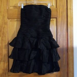 Vintage A.J. Bari Ruched Ruffled Bustier Dress